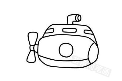 潜水艇简笔画图片大全作品五