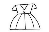 裙子简笔画图片大全、画法