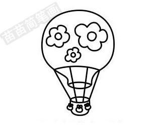热气球简笔画图片步骤一