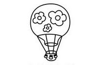 热气球简笔画图片大全、画法