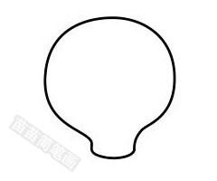 热气球简笔画图片步骤二