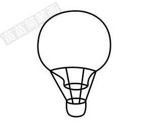 热气球简笔画图片步骤五