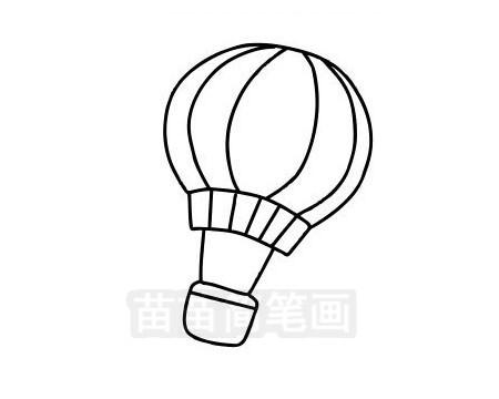 热气球简笔画图片大全作品三