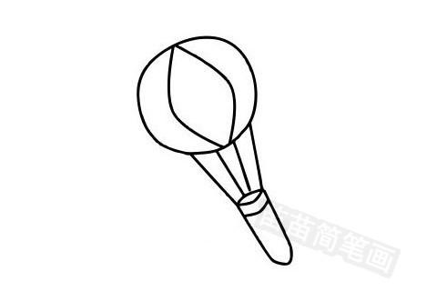 热气球简笔画图片大全作品五