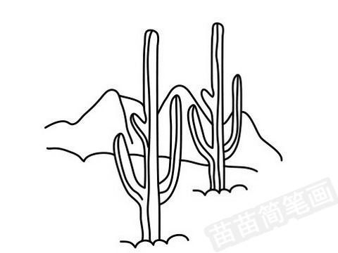 沙漠简笔画图片大全作品四