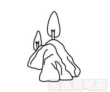 山峰简笔画图片步骤一
