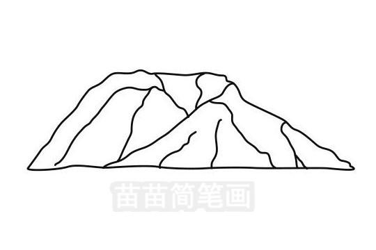 山峰简笔画图片大全作品三