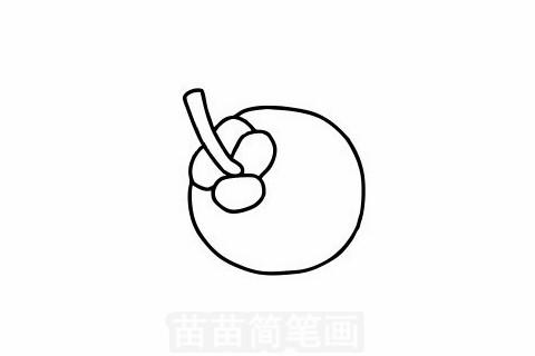 山竹简笔画大图