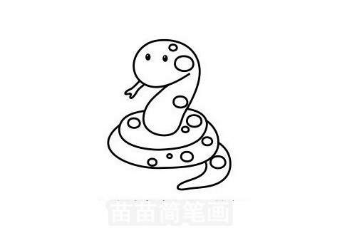 蛇简笔画大图