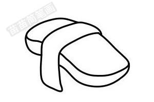 寿司简笔画图片步骤四