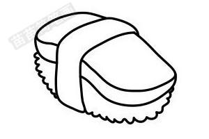 寿司简笔画图片步骤五