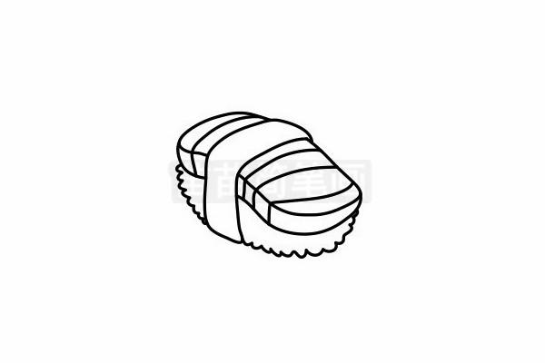 寿司简笔画图片步骤六