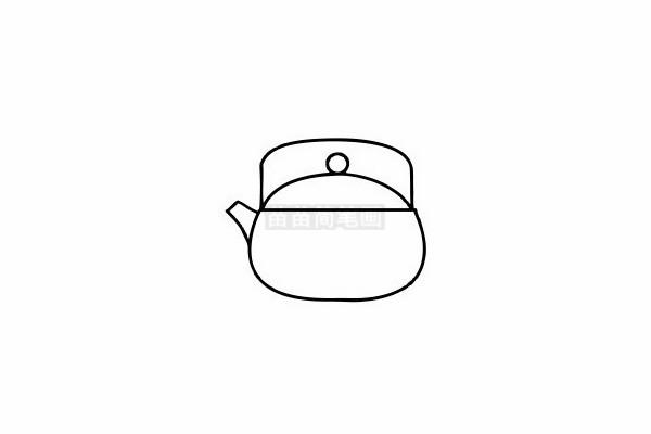水壶简笔画图片步骤六