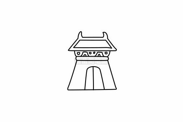 寺庙简笔画图片大全 画法