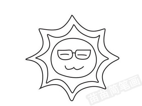 太阳简笔画图片大全作品四