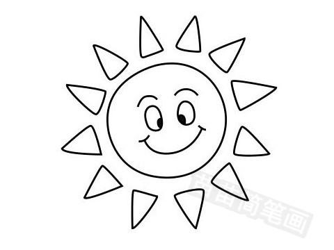 太阳简笔画图片大全作品五