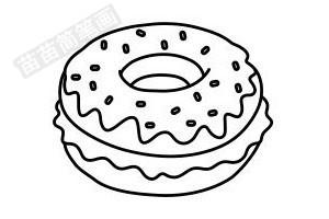 甜甜圈简笔画图片步骤一
