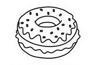 甜甜圈简笔画怎么画、图片大全