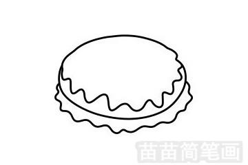 甜甜圈简笔画图片步骤四