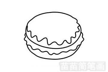 甜甜圈简笔画图片步骤五