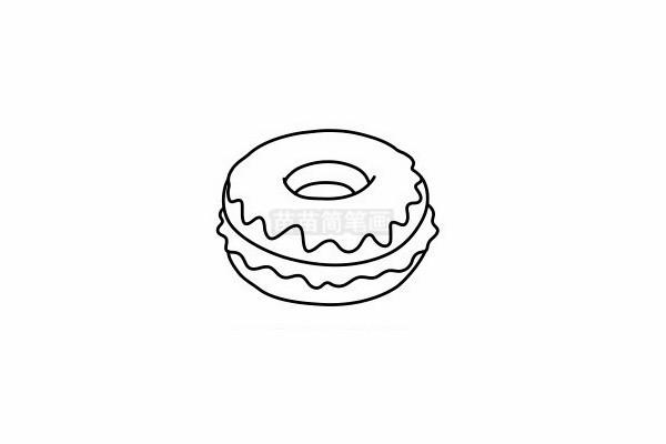 甜甜圈简笔画图片步骤六