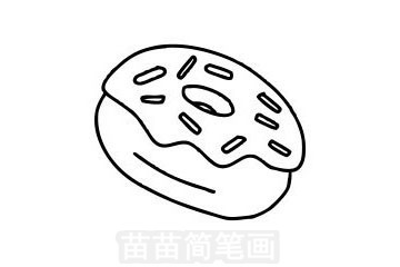 甜甜圈简笔画图片大全作品一