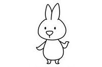 卡通兔子简笔画图片大全、教程