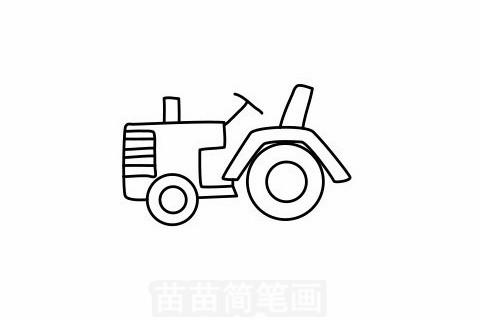 拖拉机简笔画大图