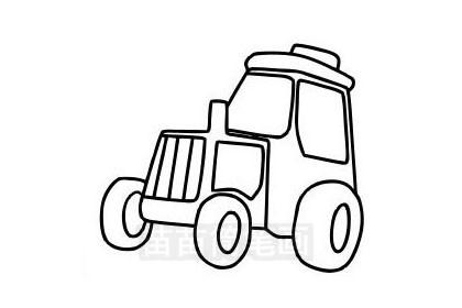 拖拉机简笔画图片大全作品三