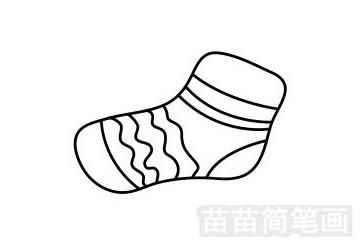 袜子简笔画图片步骤一