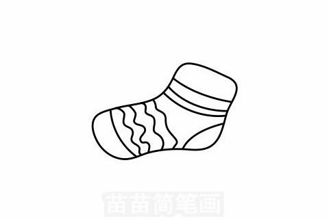 袜子简笔画大图