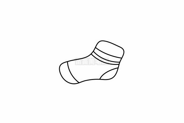 袜子简笔画图片步骤四