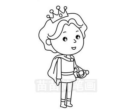 王子简笔画图片大全作品三