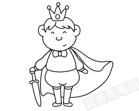 王子简笔画图片大全作品四