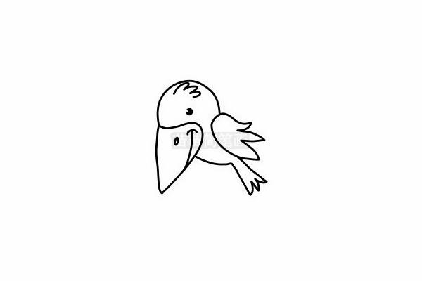 乌鸦简笔画图片步骤六