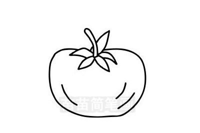 西红柿简笔画图片大全作品三