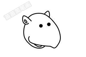 犀牛简笔画图片步骤四