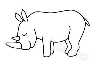 犀牛简笔画图片大全作品五