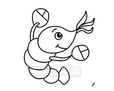 龙虾简笔画图片大全 教程