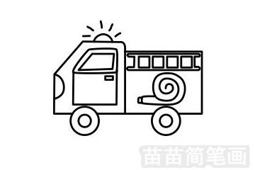 消防车简笔画图片步骤一