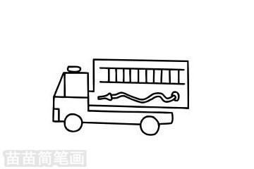 消防车简笔画图片大全作品二