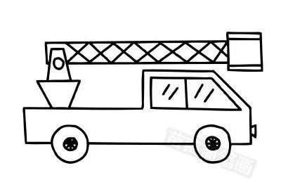 消防车简笔画图片大全作品五