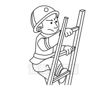 消防员简笔画图片大全作品三
