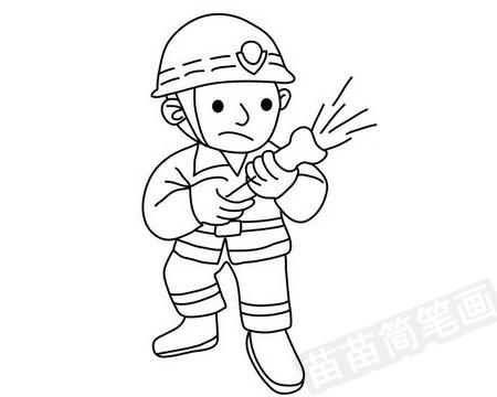 消防员简笔画图片大全 教程