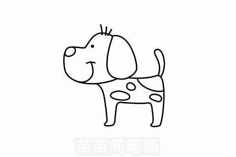 小狗简笔画大图