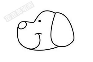 小狗简笔画图片步骤四