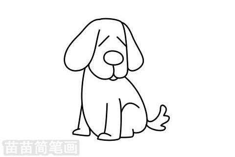 小狗简笔画图片大全作品二