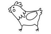 小鸡简笔画怎么画、图片大全