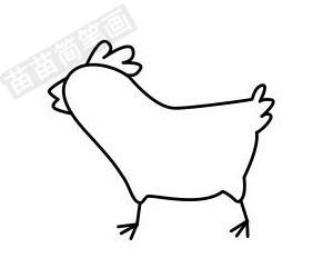 小鸡简笔画图片步骤四