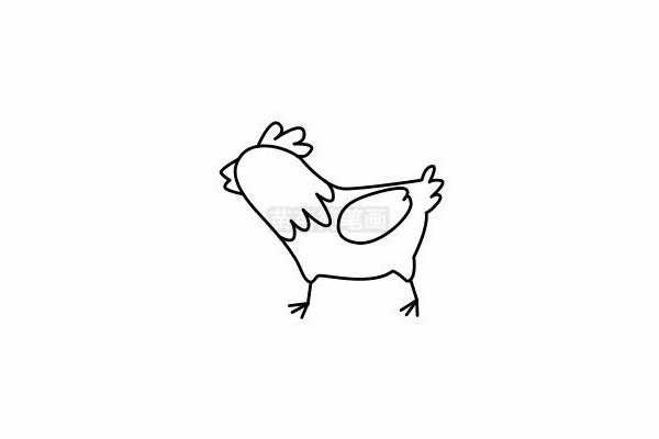 小鸡简笔画图片步骤六